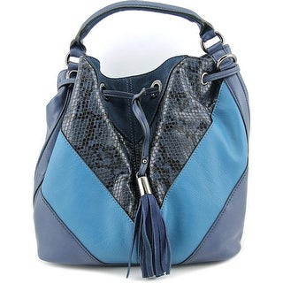 French Connection Cruz Drawstring Synthetic Messenger - Blue