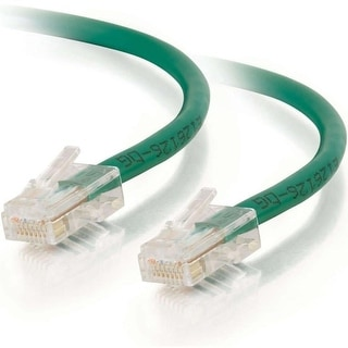 C2G 00541 12ft Cat5e Non-Booted Unshielded (UTP) Network Patch Cable - Green - Category 5e for Network Device - RJ-45 Male -