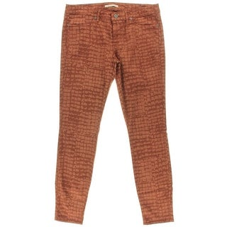 Rich and Skinny Womens Low-Rise Printed Skinny Jeans