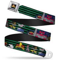 Power Rangers Logo Full Color Megazord Dinozords Mmpr Logo Stripe Green Seatbelt Belt