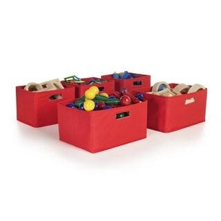 Guidecraft G89001 Red Storage Bins - Set of 5