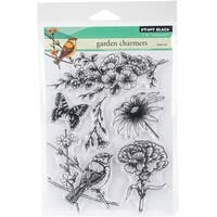 "Penny Black Clear Stamps 5""X7""-Garden Charmers"