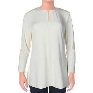 Lauren Ralph Lauren Womens Pullover Top Long Sleeves Stretch