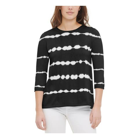 CALVIN KLEIN Black 3/4 Sleeve Sweater S