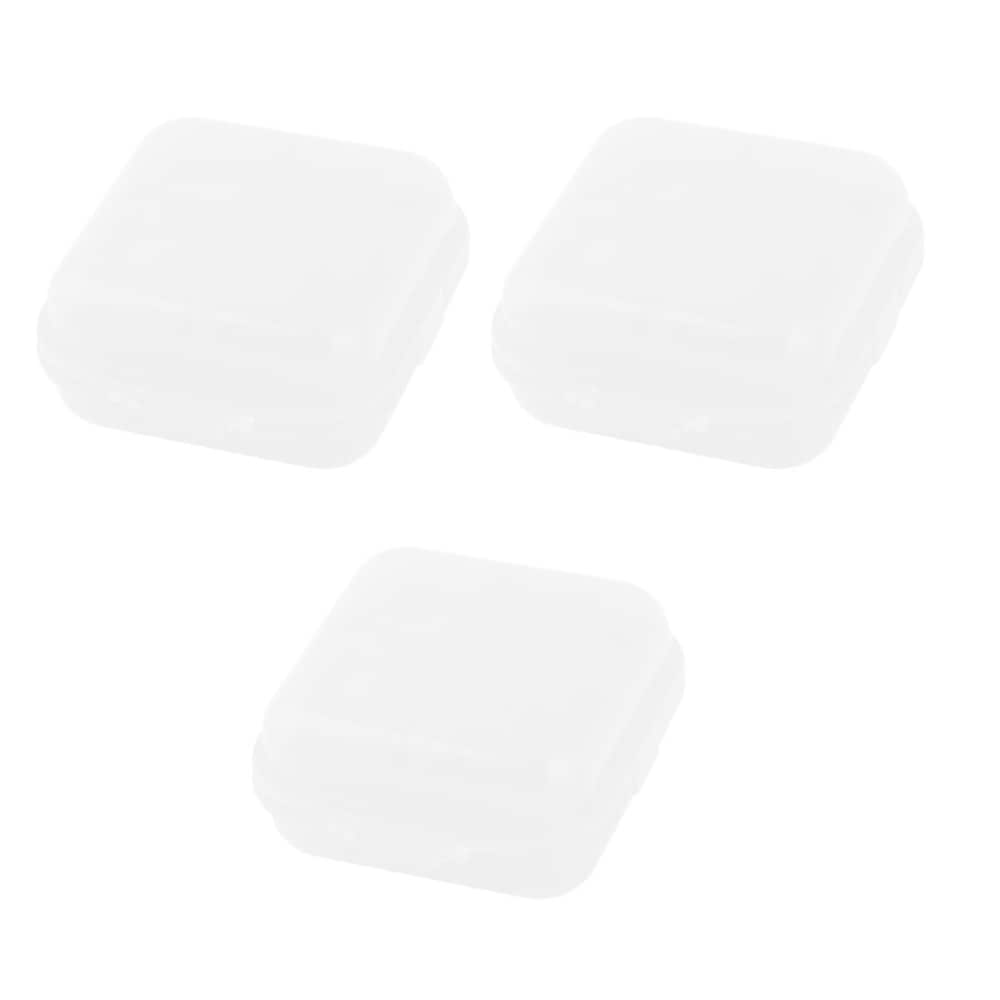 Family PP 2 Compartments Tablet Pill Organizer Dispenser Box Case White 3 Pcs