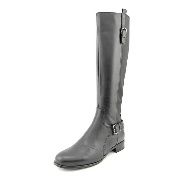 La Canadienne Stefania Women  Round Toe Leather Black Knee High Boot