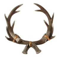 """15"""" Silver Glittered Regal Reindeer Antler Mantle and Table Top Decoration"""