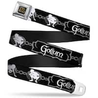 The Lord Of The Rings Full Color Black Gold Gollum Poses Chained Rings Seatbelt Belt