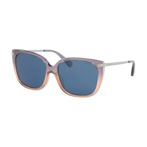 Coach HC8272 55547N 56 Violet Glitter Gradient Woman Square Sunglasses