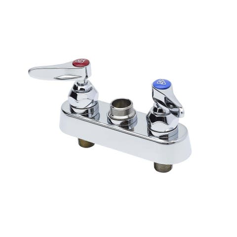 """T and S Brass B-1110-LN Deck Mounted Workboard Faucet with 4"""" Centers, - Chrome"""