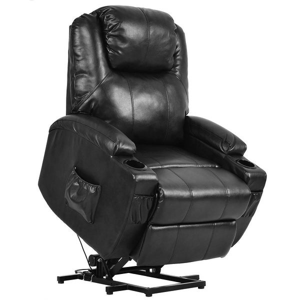 Shop Costway Electric Power Lift Chair Recliner Pu Leather
