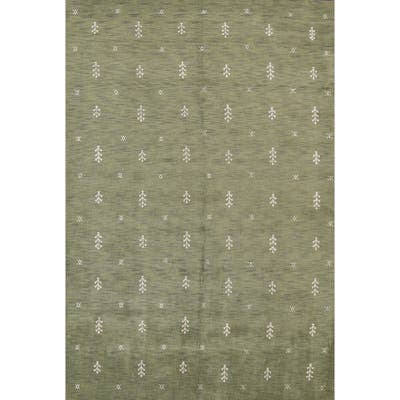 """Contemporary Tribal Oriental Gabbeh Area Rug Hand-knotted Wool Carpet - 8'3"""" x 11'1"""""""