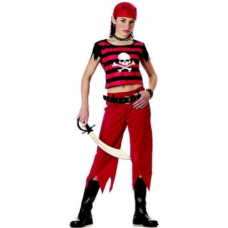 California Costumes Hip Punk Pirate Child Costume - Red - Large