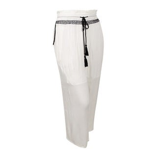 NY Collection Women's Plus Size Palazzo Pants - white metaldust