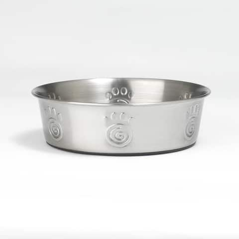 PetRageous DesignsA 60050 Cayman Classic Stainless Steel Non-Skid Bowl, 3-Qt