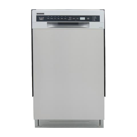 KUCHT Professional 18 in. Front Control Dishwasher in Stainless Steel with Stainless Steel Tub and Multiple Filter System