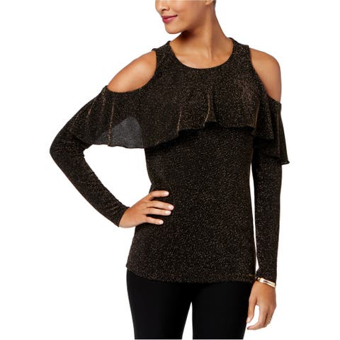 Michael Kors Womens Cold Shoulder Pullover Sweater, black, XX-Small