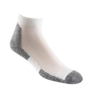 Thorlo Men's Lite Running Mini Crew Sock, White/Black, Medium (Shoe size?8.5-10)