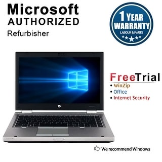 "Refurbished HP EliteBook 8470P 14"" Laptop Intel Core i5-3320M 2.6G 8G DDR3 1TB DVDRW W7P 64 1 Year Warranty - Silver"
