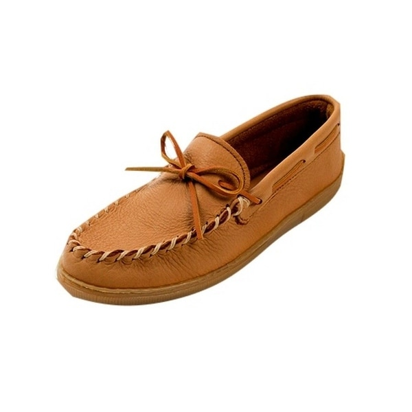 Minnetonka Shoes Mens Moosehide Moccasin Classic Natural