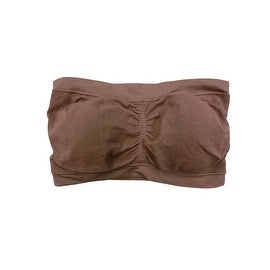 Papaya Women 3 Pack Brown Color Padded Tube Top Bandeau Bras