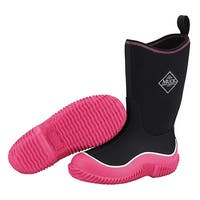 Muck Boot's Kid's Hale Black/Pink Boots w/ Diamond Tread Outsoles - Size 13