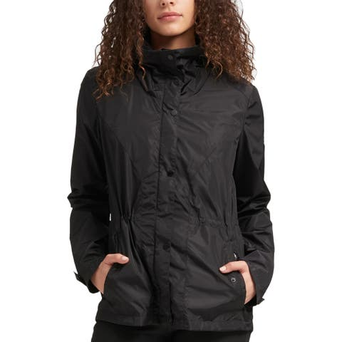 DKNY Womens Windbreaker Jacket Lightweight Logo