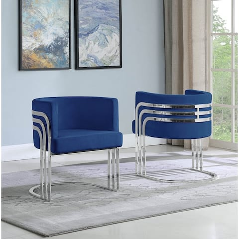 Best Quality Furniture Accent Chairs with Chrome Base (Single)