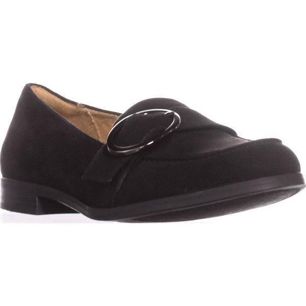 naturalizer Mina Flat Comfort Loafers, Black Fabric
