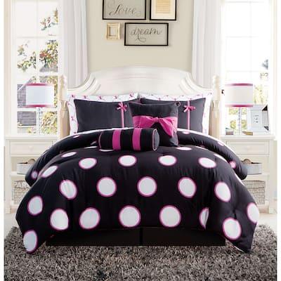 VCNY Home Sophie Polka Dot Bed-in-a-Bag Comforter Set