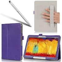 i-Blason, Samsung Galaxy Tab Pro 10.1 Case, Elastic Hand Strap Case-Purple