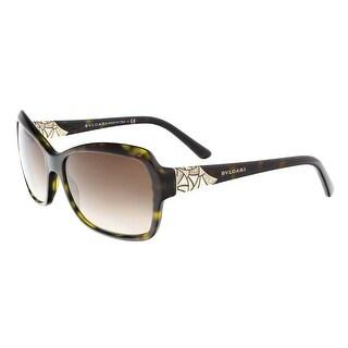 Bulgari BV8153B 504/13 Green Tortoise Rectangle Sunglasses - 57-16-140