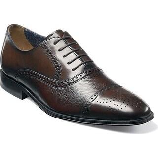 Florsheim Men's Otavio Cap Toe Oxford Brown Deerskin/Calf Leather