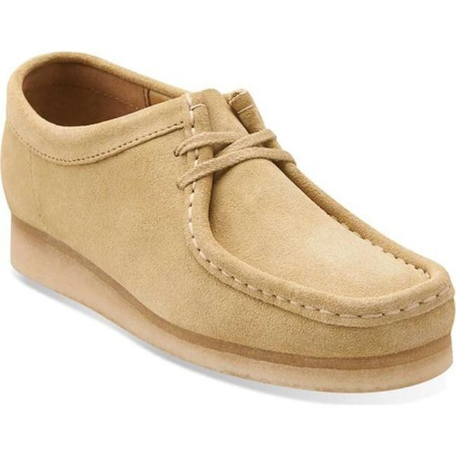 Clarks wallabee womens sand suede + FREE SHIPPING |