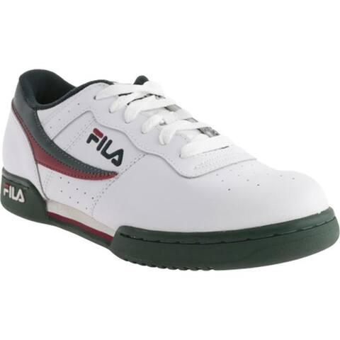 bdc8be6fc4080e Fila Men's Original Fitness 11F16LT Sneaker White/Sycamore/Biking Red