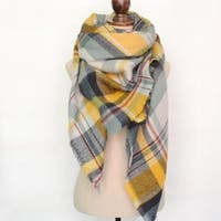 Plaid Tartan Blanket Scarf Wrap Shawl