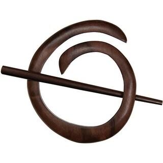 Spiral Shawl Pin-Tiger Ebony - Black