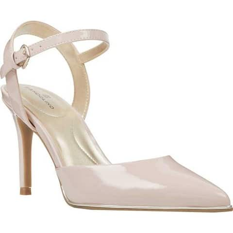 Bandolino Women's Dabia Pointed Toe Slingback Dusty Pink Sleek Faux Patent