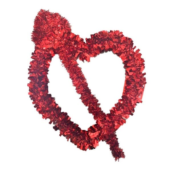 Homvare Cupid S Arrow Hanging Tinsel Heart 17 For Valentine S Day Party Wedding Supply Home Decorations Red 12 X 15 X 2 Overstock 30731505