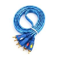 Universal 3 RCA Male to 3 RCA Male Audio Video Cable 4.9Ft Long for DVD Player