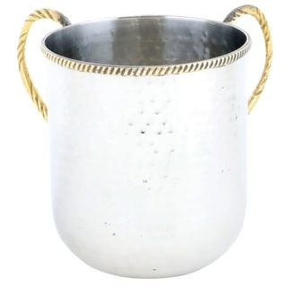 Stainless Steel Hammered Washing Cup 13 Cm