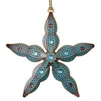 "ChemArt 2.5"" Collectible Keepsakes Starfish Christmas Ornament - BLue"