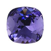 Swarovski Crystal, 4470 Cushion Fancy Stone 12mm, 1 Piece, Tanzanite Foiled