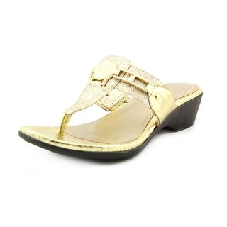 Marc Fisher Amina2 Open Toe Synthetic Thong Sandal