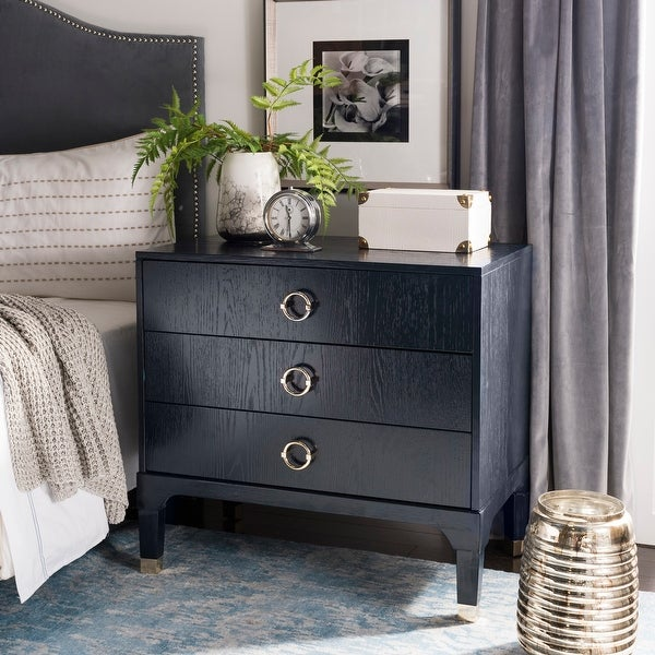 Safavieh Lorna Navy 3-drawer Night Stand. Opens flyout.