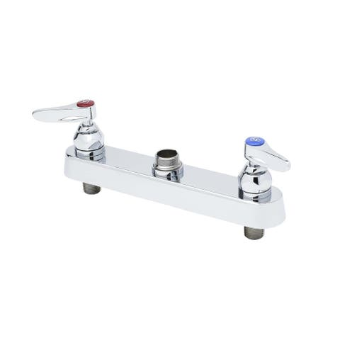 """T and S Brass B-1120-LN Deck Mounted Workboard Faucet with 8"""" Centers - Chrome"""