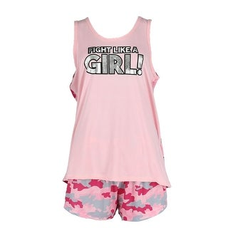 Love Loungewear Women's Plus Size Tank and Shorts Pajama Set