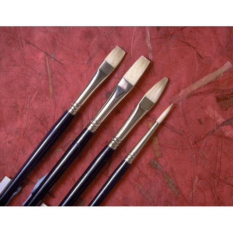 Princeton 5200f-2 good natural chinese bristle oil and acrylic brush flat 2