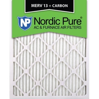 12 Pack Nordic Pure 12x20x1 MERV 13 Plus Carbon Pleated AC Furnace Air Filters