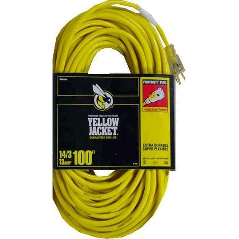 Yellow Jacket 2888 Extension Cord, 15 Amp, 100'